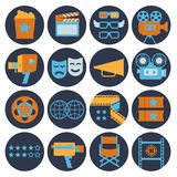 Cinematography flat Icons. Royalty Free Stock Photography
