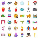 Cinematography icons set, cartoon style. Cinematography icons set. Cartoon style of 36 cinematography vector icons for web isolated on white background Royalty Free Stock Image