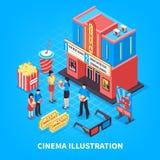 Cinematography Isometric Design Concept Stock Photo