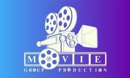 Cinematography logo background vector. Movie logo background vector eps Royalty Free Stock Photo