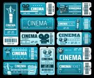 Cinematography movie festival, cinema tickets vector illustration