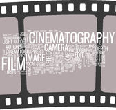 Cinematography  Poster. Gorgeous words cloud for your design Stock Photography