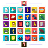 Cinematography, recreation, furniture and other web icon in flat style.achievement, medicine, animals icons in set Royalty Free Stock Photo