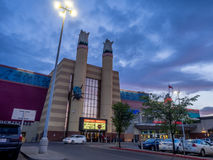Cineplex filmteater på den Chinook mittgallerian Royaltyfri Bild
