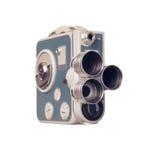 Cinepresa dell'annata 8mm con la torretta Fotografie Stock