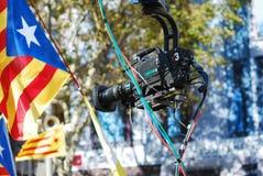 Cinepresa di televisione Immagini Stock Libere da Diritti