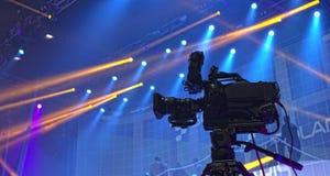 Cinepresa di televisione Immagini Stock