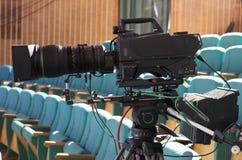 Cinepresa di televisione Fotografie Stock Libere da Diritti
