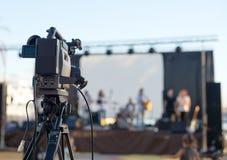Cinepresa di televisione immagine stock libera da diritti