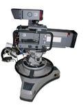 Cinepresa di televisione dello studio sul basamento Fotografia Stock Libera da Diritti