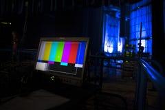 Cinepresa di televisione nella registrazione fotografia stock