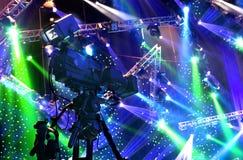 Cinepresa di televisione Immagine Stock