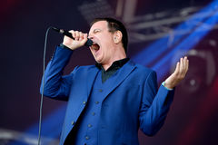 Cinerama (singer and songwriter) performs at Primavera Sound 2015. BARCELONA - MAY 27: Cinerama (singer and songwriter) performs at Primavera Sound 2015 Festival Stock Photos