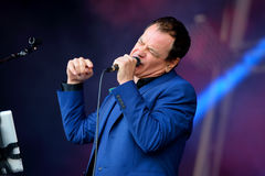 Cinerama (singer and songwriter) performs at Primavera Sound 2015. BARCELONA - MAY 27: Cinerama (singer and songwriter) performs at Primavera Sound 2015 Festival Stock Images