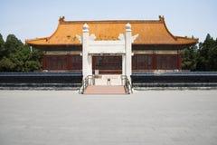 Cinese asiatico, costruzione antica, parco di Zhongshan, arché di pietra, Zhongshan Corridoio Fotografia Stock Libera da Diritti