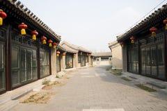 Cinese asiatico, Pechino, Canale grande Forest Park, costruzione antica Fotografia Stock