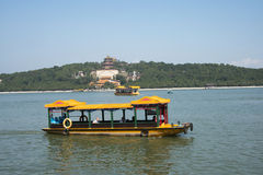 Cinese asiatico, Pechino, il palazzo di estate, lago kunming, incenso, crociera Fotografia Stock Libera da Diritti