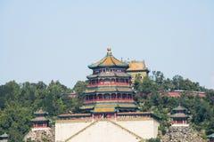 Cinese asiatico, Pechino, il palazzo di estate, torre di incenso buddista Immagine Stock Libera da Diritti