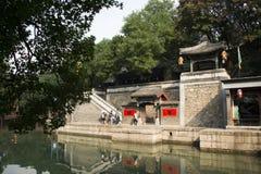 Cinese asiatico, Pechino, il palazzo di estate, via di Suzhou, costruzioni antiche Fotografia Stock Libera da Diritti
