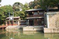 Cinese asiatico, Pechino, il palazzo di estate, via di Suzhou, costruzioni antiche Fotografia Stock