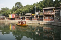 Cinese asiatico, Pechino, monumento storico, il palazzo di estate, via di Suzhou Immagini Stock