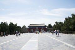 Cinese asiatico, Pechino, parco di Tiantan, monumenti storici Fotografia Stock Libera da Diritti