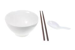 Cinese che mangia gli utensili Fotografie Stock