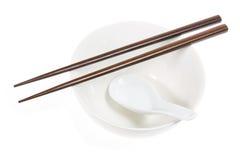 Cinese che mangia gli utensili Immagini Stock