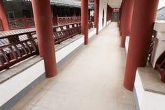 Cinese   Corridoio lungo Fotografia Stock Libera da Diritti