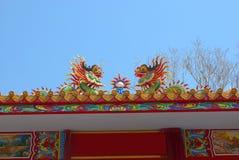 Cinese del drago nel paese della Tailandia Immagine Stock