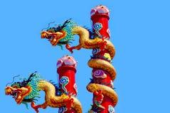 Cinese del drago nel paese della Tailandia Fotografie Stock