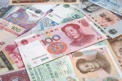 Cinese del mucchio & fatture della HK Immagini Stock