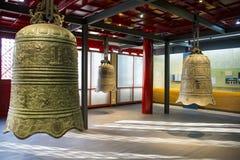 Cinese dell'Asia, Pechino, ¼ antico Œ del exhibitionï di ŒIndoor del ¼ di Dazhongsi Bell Museumï Immagine Stock