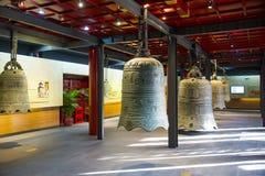 Cinese dell'Asia, Pechino, ¼ antico Œ del exhibitionï di ŒIndoor del ¼ di Dazhongsi Bell Museumï Fotografie Stock