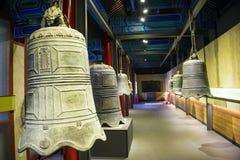 Cinese dell'Asia, Pechino, ¼ antico Œ del exhibitionï di ŒIndoor del ¼ di Dazhongsi Bell Museumï Immagini Stock Libere da Diritti