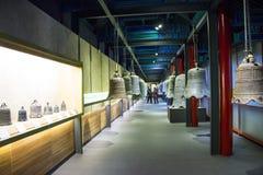 Cinese dell'Asia, Pechino, ¼ antico Œ del exhibitionï di ŒIndoor del ¼ di Dazhongsi Bell Museumï Fotografie Stock Libere da Diritti
