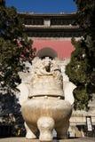 Cinese dell'Asia, Pechino, area scenica di Ming Dynasty Tombs, ¼ ŒAltar, stufa di pietra di Dinglingï Immagini Stock