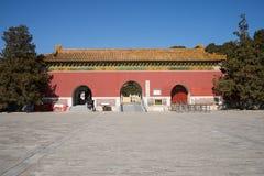 Cinese dell'Asia, Pechino, area scenica di Ming Dynasty Tombs, portone di ŒMausoleum del ¼ di Dinglingï Immagini Stock Libere da Diritti