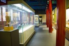 Cinese dell'Asia, Pechino, campana antica del carillon di Œancient del ¼ del exhibitionï di ŒIndoor del ¼ di Dazhongsi Bell Museu Fotografia Stock Libera da Diritti