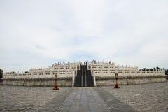 Cinese dell'Asia, Pechino, parco di Tiantan, costruzione del giardino, altare circolare del monticello Fotografia Stock