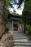 Cinese della montagna di Gansu Kongtong Fotografie Stock