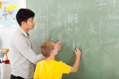 Cinese della scuola elementare Fotografia Stock Libera da Diritti