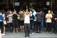 Cinese di preghiera Immagine Stock Libera da Diritti