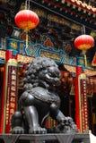 Cinese Leo Statue Fotografia Stock Libera da Diritti