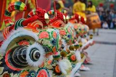 Cinese Lion Dance Fotografie Stock