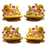 Cinese Lion Dance Head Fotografie Stock