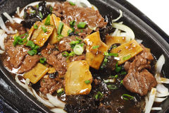 Cinese - manzo con asparago Fotografie Stock Libere da Diritti