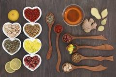 Cinese medicinale Herb Teas Immagine Stock Libera da Diritti
