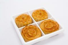 Cinese-mooncakes-isolato Immagine Stock Libera da Diritti