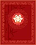 Cinese - Orientale - progettazione della disposizione di abitudine e della struttura Immagini Stock Libere da Diritti